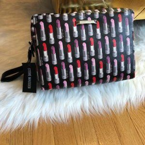 PRICE FIRM! Madden Lipstick DoubleZip Cosmetic Bag
